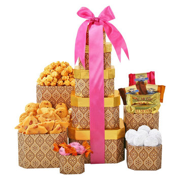 Alder Creek Gift Baskets Mother's Day Chocolate & Truffles Tower, 12 pc