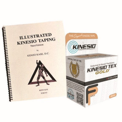 Massage Warehouse 4th Edition Clinical Kinesiotaping Manual with 2 Kinesio Tex Tape