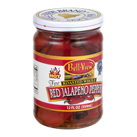 Bell-View Fire Roasted Whole Red Jalapeno Peppers