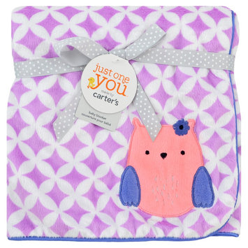 Just One You Made By Carter's Just One You Made by Owl Valboa Blanket with Satin Piping - Purple