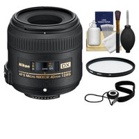 Nikon 40mm f/2.8 G DX AF-S Micro-Nikkor Lens + 3 UV Filter for D3100, D3200, D3300, D5100, D5200, D5300, D7000, D7100 DSLR Cameras