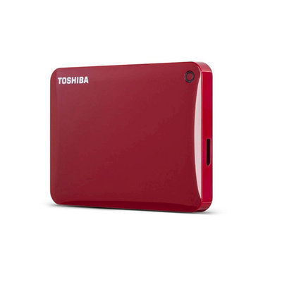 Toshiba Canvio Connect Ii 2TB External Hard Drive - USB 3.0 - 5400 Rpm - 8MB Buffer - Portable - Red (hdtc820xr3c1)