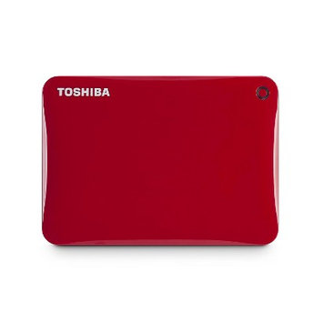 Toshiba Canvio Connect Ii 1TB External Hard Drive - USB 3.0 - 5400 Rpm - 8MB Buffer - Portable - Red (hdtc810xr3a1)