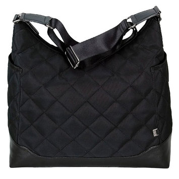 OiOi Diaper Bag Black Quilted Hobo