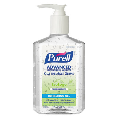 PURELL GOJ969112 Clear Green Certified Instant Hand Sanitizer Gel 8