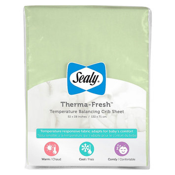 Therma-Fresh Crib Sheet - White by Sealy