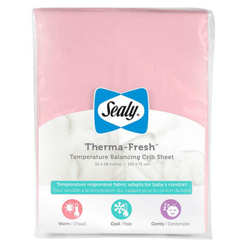 Therma-Fresh Crib Sheet - Pink by Sealy