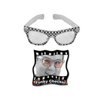 Funky Checker Glasses [Eyewear]