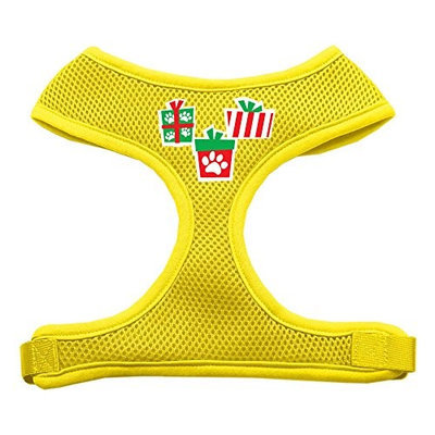 Mirage Pet Products 7019 SMYW Presents Screen Print Soft Mesh Harness Yellow Small