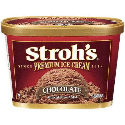Stroh's Premium Chocolate Ice Cream, 1.5qt