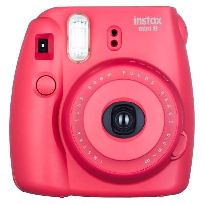 Fujifilm Instax Mini 8 Camera, 1/60 sec Shutter Speed, 62x46mm Picture Size, Raspberry