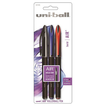 Rubbermaid 3ct Uniball AIR Asst, Black