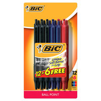 BIC Ballpoint Pens, Assorted Colors - 18 count, Multi-Colored