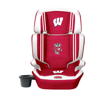 Wild Sports Wisconsin Badgers Lil Fan Collegiate Club Seat Premium 2 in 1 High Back Booster Seat