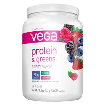 Vega Protein & Greens Berry Flavor Protein Powder - 18.4 oz