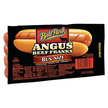 Ball Park Hot Dogs Angus Beef Bunsz 8CT 12/14OZ