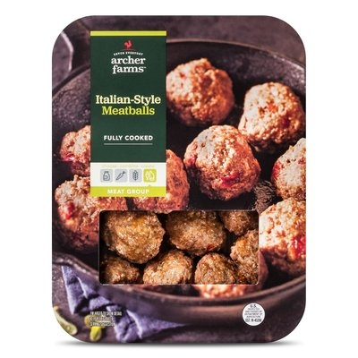 Golden West Trading, Inc. AF M & M Natural Italian-style Beef Meatballs (Italian) 12oz