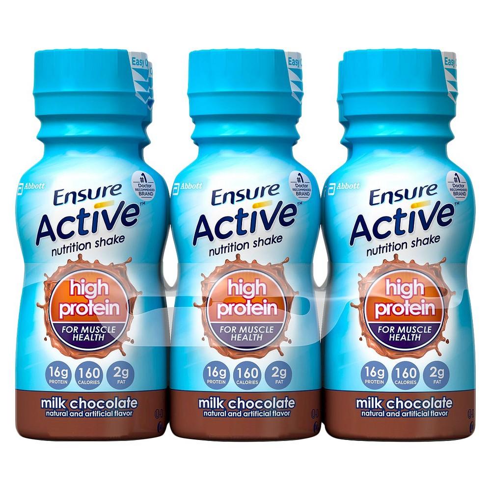 Ensure Active Milk Chocolate Protein Shake - 6 Count