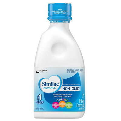 Similac Advance Non-GMO Ready-to-Feed Liquid Formula - 32oz
