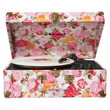 Crosley Keepsake Portable Turntable, Floral