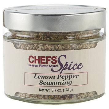 CHEFS Lemon Pepper Seasoning Blend, 5.7-ounce - 5.7-oz. - CHEFS Spice Rubs and Blends