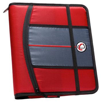 Case It Inc. Ring Binder Red 8.5
