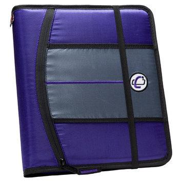 Case It Inc. Ring Binder Purple Internal Pockets 8.5