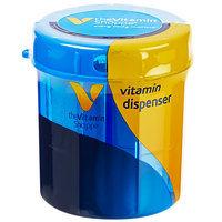 Vitamin Shoppe Vitamin Dispenser Yellow Pill Case