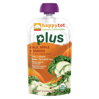 Happy Tot Plus Organic Kale Apple Mango - 4.22oz (8 Pack)