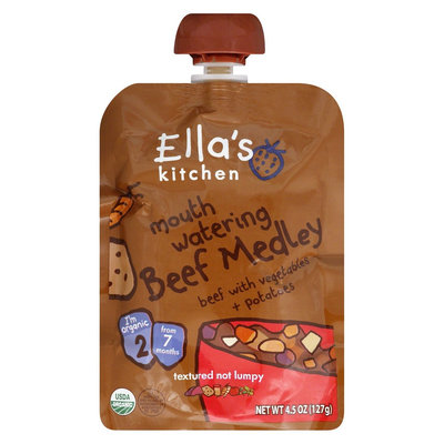 Ella's Kitchen Stage 2 Beef Medley with Vegetables & Potatoes Organic Baby Food - 4.5oz (6 Pack)