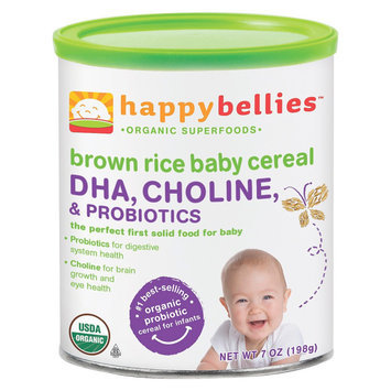 Happy Bellies Organic Brown Rice Cereal - 7oz (3 Pack)