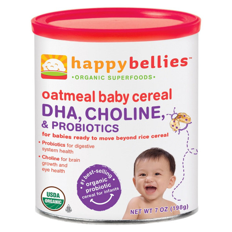 Happy Bellies Organic Oatmeal Cereal - 7oz (3 Pack)
