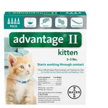 AdvantageA II 4-Pack Flea Kitten Treatment