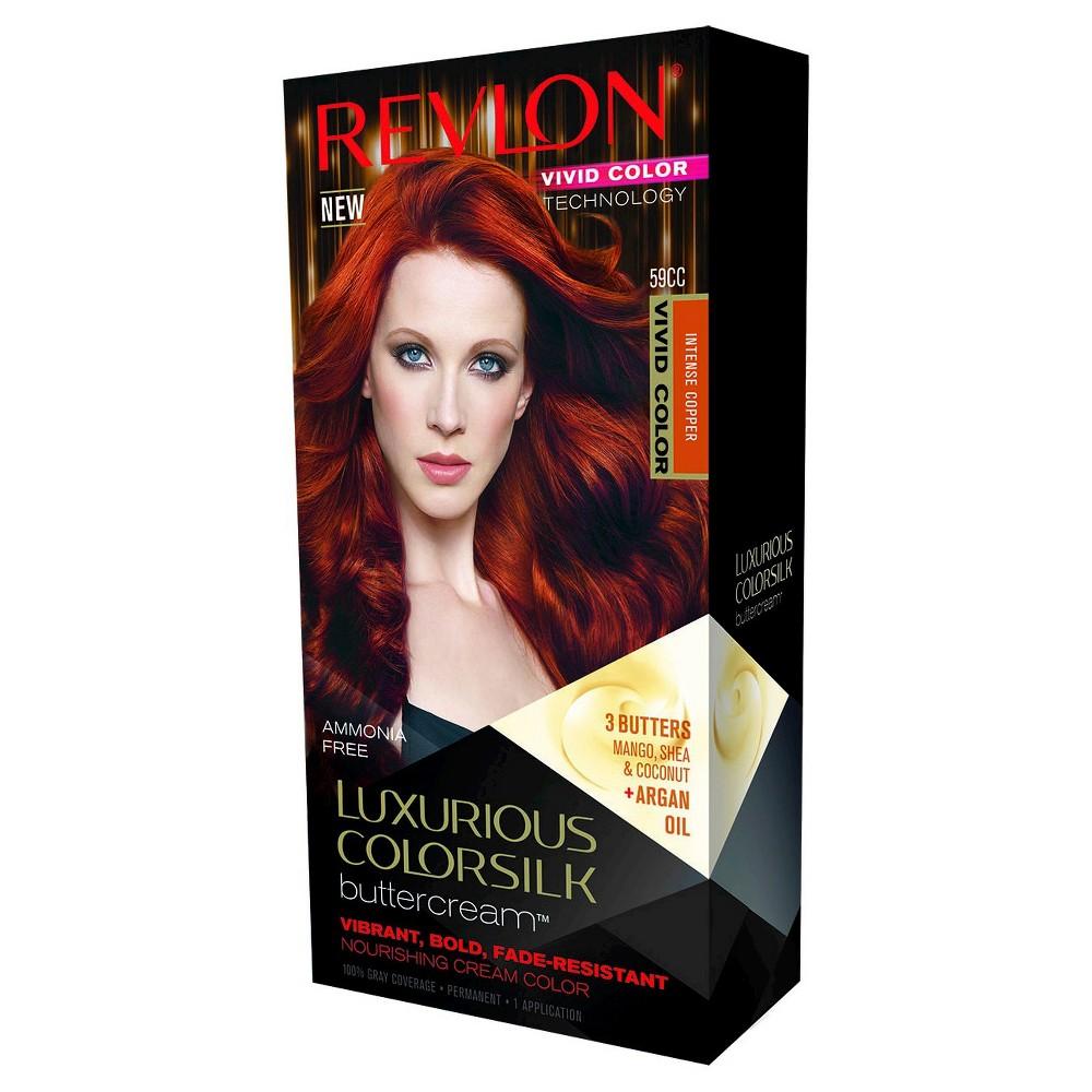 Revlon Luxurious Colorsilk Buttercream Haircolor Vivid Colors Collection 59CC Vivid Intense Copper (Brown) 7.3floz