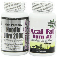 Acai Fat Burn & Hoodia Ultra 2000 Combo ACAI Fat Burn #3 and Hoodia Ultra 2000 Diet Pill with Green Tea, Grapefruit, Apple Cider, and more for Weight Loss and 2000mg of Hoodia