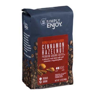 Simply Enjoy Cinnamon Hazelnut Premium Ground Coffee