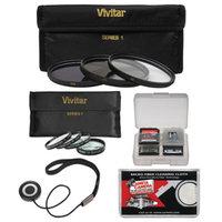 Vivitar 37mm 7-Piece Multi-Coated HD UV/CPL/ND8 & 4 Macro Filter Set + Accessory Kit