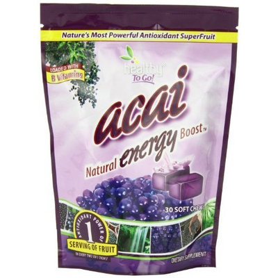 To Go Brands Healthy To Go Acai Energy Chews, 30 soft chews Bag
