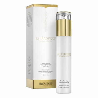 Bibasque Allegresse 24K Gold Deep Foaming Cleansing Facial Gel, 4 oz
