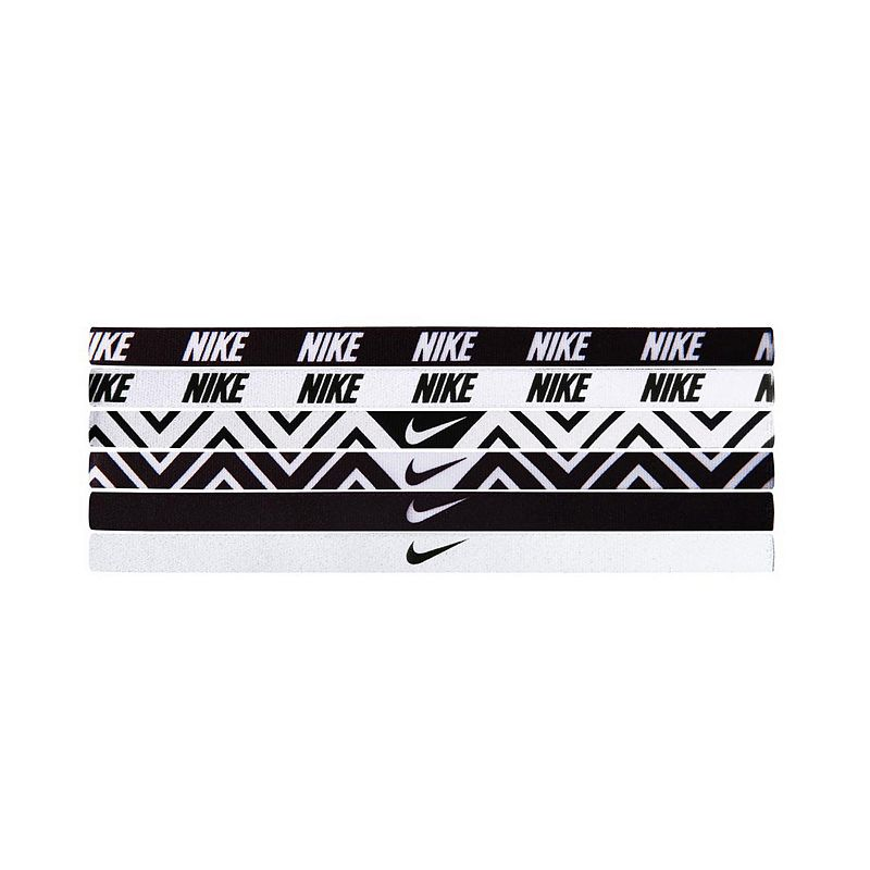 Nike - Nike Printed Headbands Assorted 6 Packs (Black/White) - Accessories