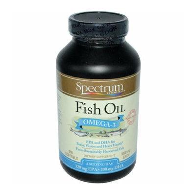 Spectrum Essentials Fish Oil Omega-3 1000 mg 250 Softgels