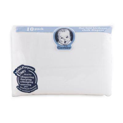 Gerber® Birdseye Flatfold Cotton Diaper