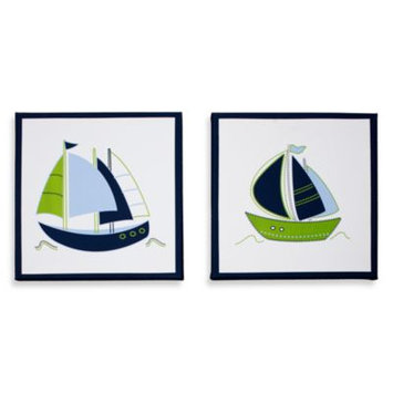 Nautica Kids Zachary 2-Piece Canvas Wall Art