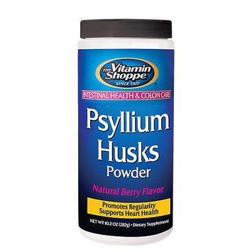 Vitamin Shoppe Psyllium Husks Powder- Natural Berry Flavor - 10.2 Ounces Powder - Cleanse / Intestinal Health