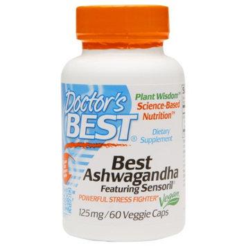 Doctor's Best Best Ashwagandha Featuring Sensoril 125mg, Veggie Capsules