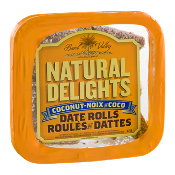 Bard Valley Natural Delights Coconut-Noix Date Rolls