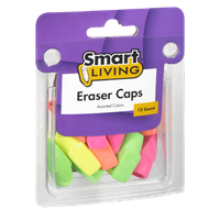 Smart Living Assorted Color Eraser Caps - 12 CT