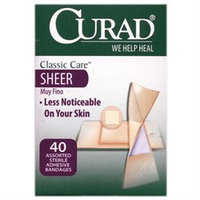 Curad CUR47318 Classic Care Sheer Bandages - 40 Assorted Sizes