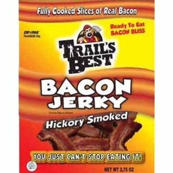 Trails Best Trail's Best Bacon Jerky - 2.75oz Bags (Pack of 4)