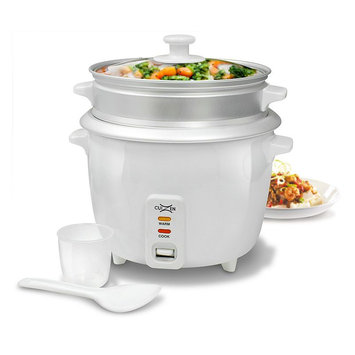 CuiZen CRC-2016ST White 16-Cup Rice Cooker with Steam Tray